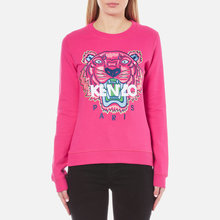 Thumb medium kenzo women s embroidered tiger sweatshirt   deep fuchia1