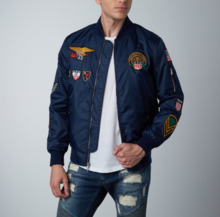 Thumb medium agency bomber    navy