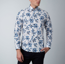 Thumb medium abstract rose dress shirt    white   blue1