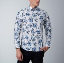Thumb medium abstract rose dress shirt    white   blue1
