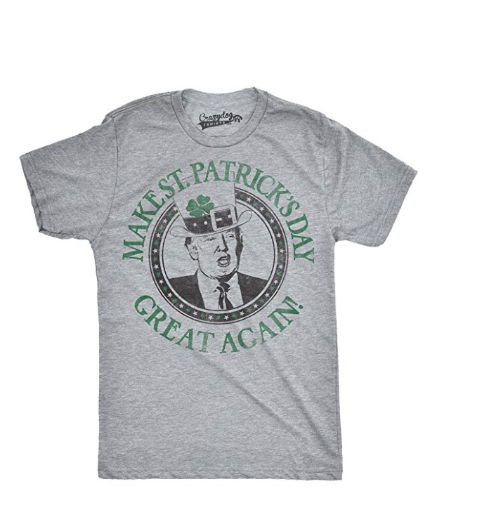 Mens make st patties day great again donald trump funny drinking t shirt2