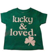 Thumb medium custom kingdom baby boys girls lucky and loved irish shamrock t shirt green