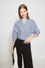 Thumb medium fashion stripe shirt with back button