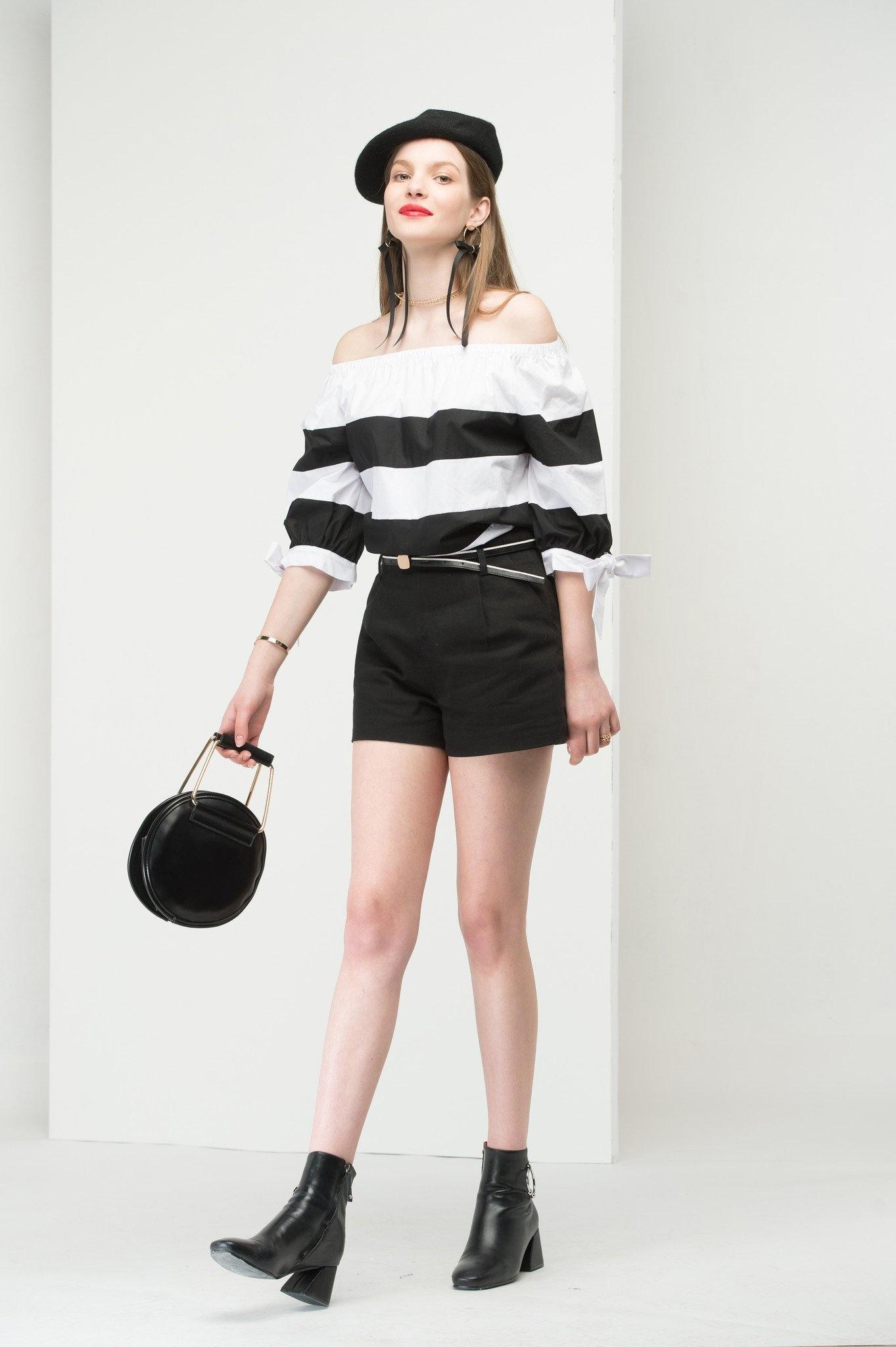 Black belted shorts1