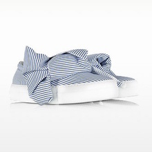Thumb medium skinny stripes bow cotton slip on sneakers skinny stripes bow cotton slip on sneakers 1
