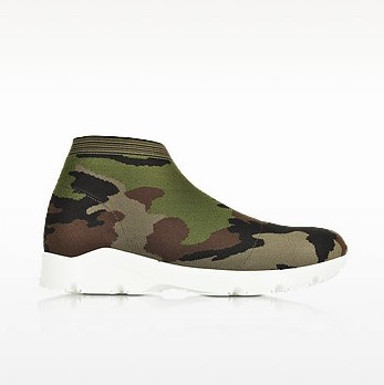 Camouflage stretch mesh high top women s sneaker