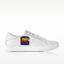 Thumb medium white leather empire toast low top sneaker