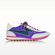 Thumb medium astor purple   multicolor nylon sneaker w lightning bolt logo