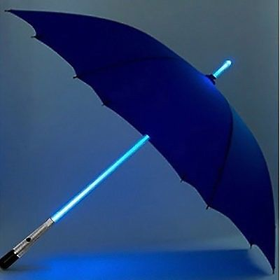 Zhol  blue led lighted umbrella