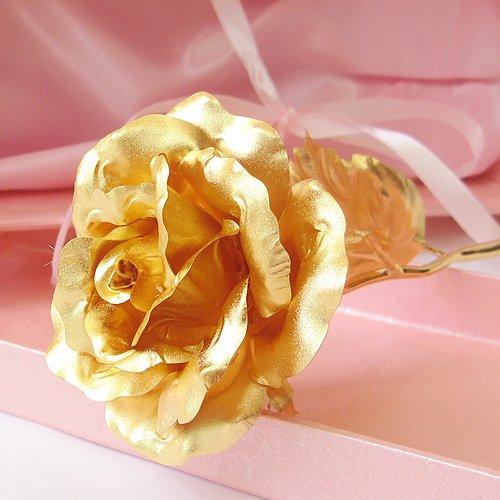 6 inch gold foil rose