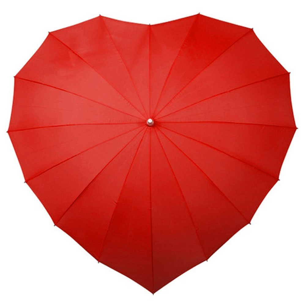 Love heart umbrella   red