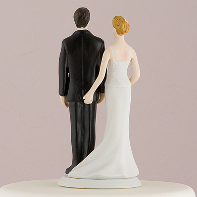 Weddingstar the love pinch bridal couple figurine  caucasian couple