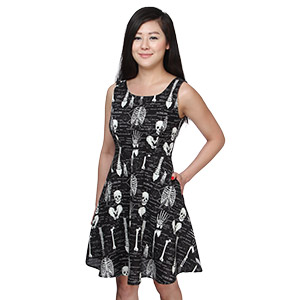Innt glow in dark skeleton dress