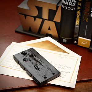 Ef2c han solo in carbonite business card holder desk
