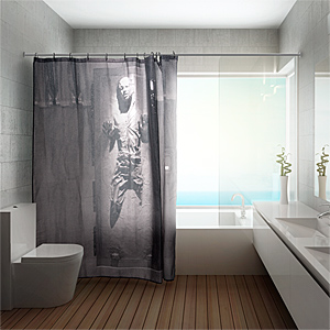1bfb han solo carbonite shower curtain inuse