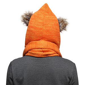 Ionp sw ewok knit hooded scarf back
