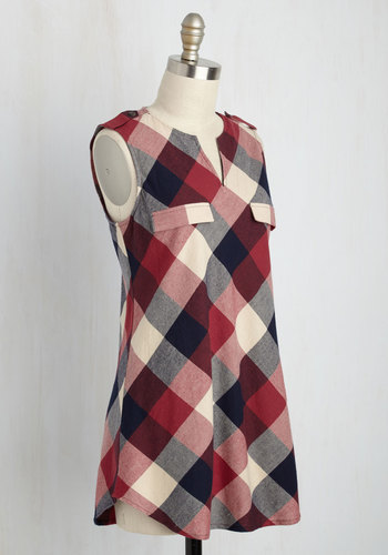 Rooftop harvest plaid tunic in red2