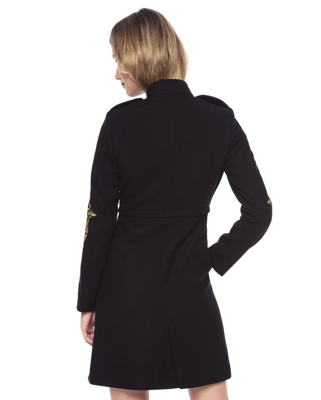 Melton embroidered coat2