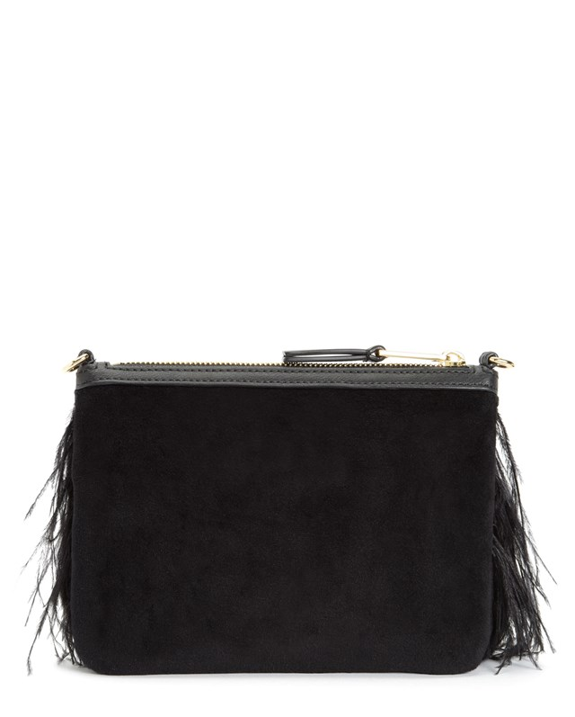 Luxe party feather crossbody2