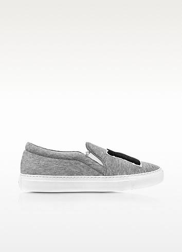 Joshua sanders grey jersey ny slip on sneaker1