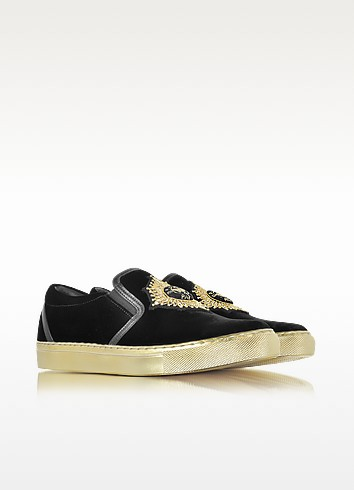 Balmain queen black velvet sneaker2