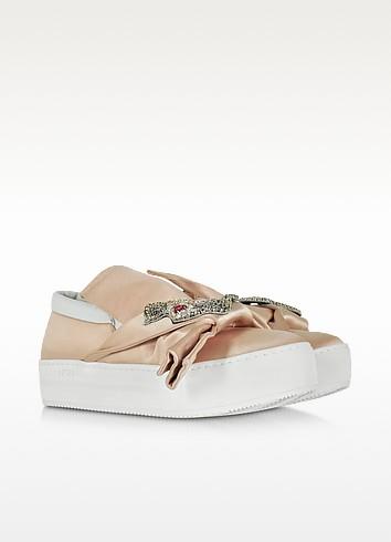 N 21 powder pink satin sneaker2