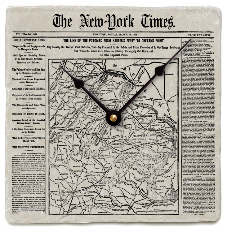 Your new york times front page on marble clock2