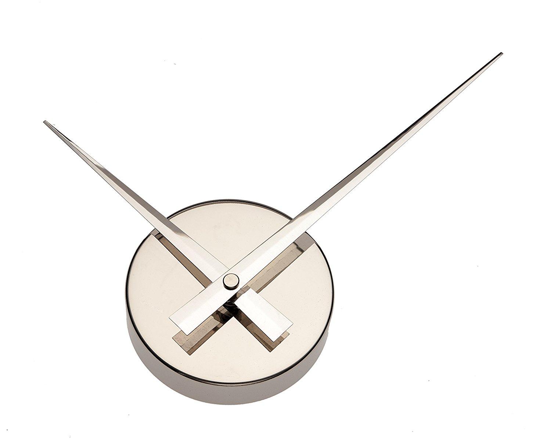 Simple elegant glossy aluminum wall clock  silver1