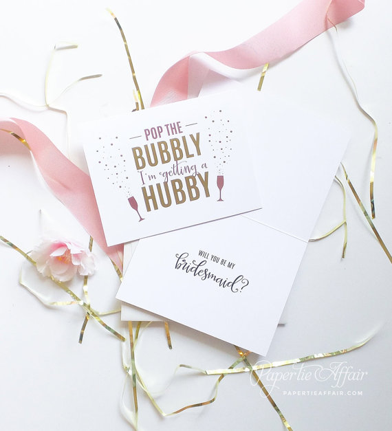 Cute will you be my bridesmaid cards 1