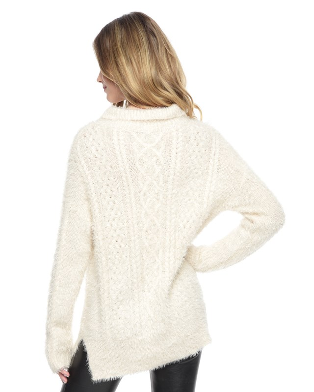 Slinky mix cable pullover2