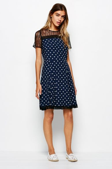 Padhams lace   crepe dress2