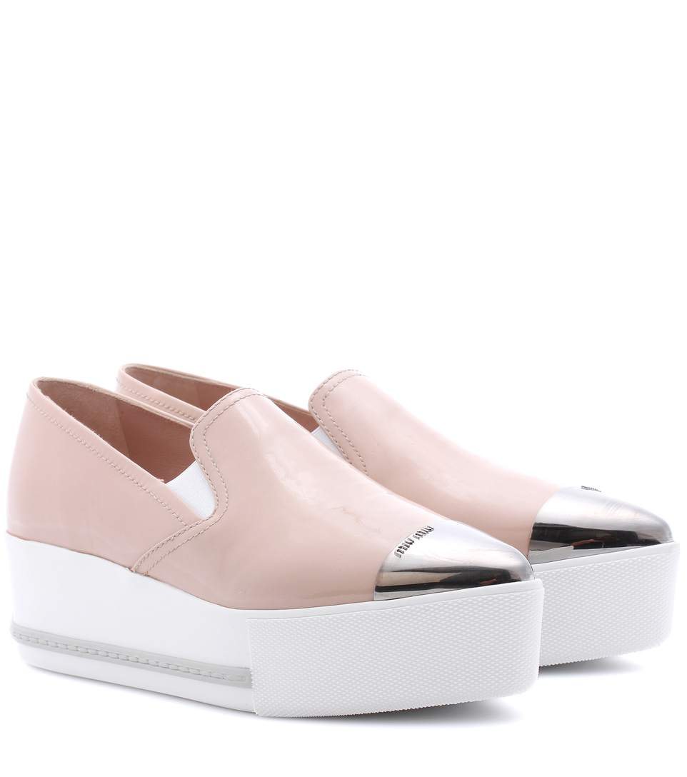 Miu miu leather platform loafers2