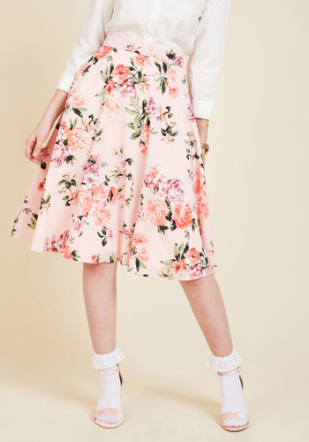 Bugle joy skirt in pink blossoms 2