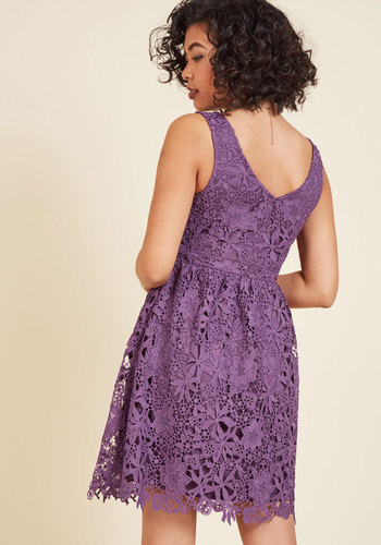 Dreams of decadence lace dress in violet 2