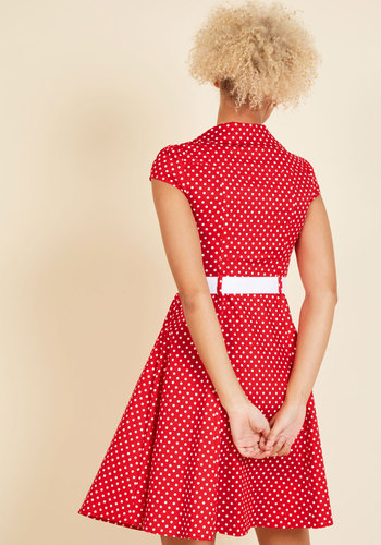 Hepcat soda fountain a line dress in cherry 2