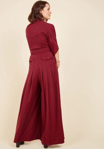 The embolden age jumpsuit in burgundy 2