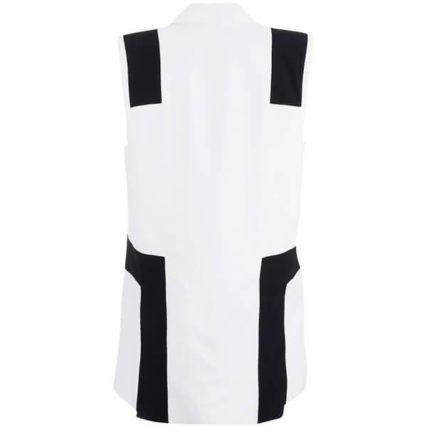 Kenzo women s sleeveless blazer   white  1