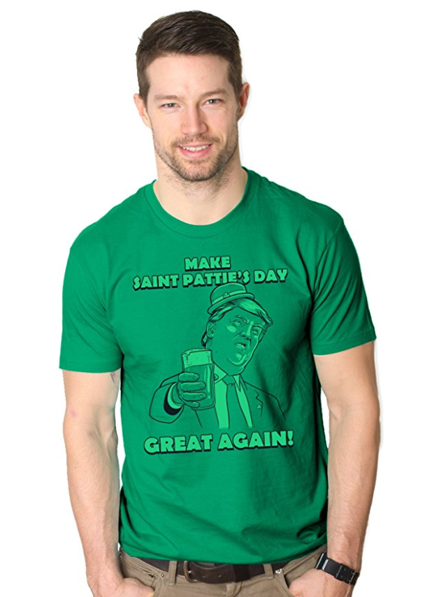 Mens make st patties day great again donald trump funny drinking t shirt1