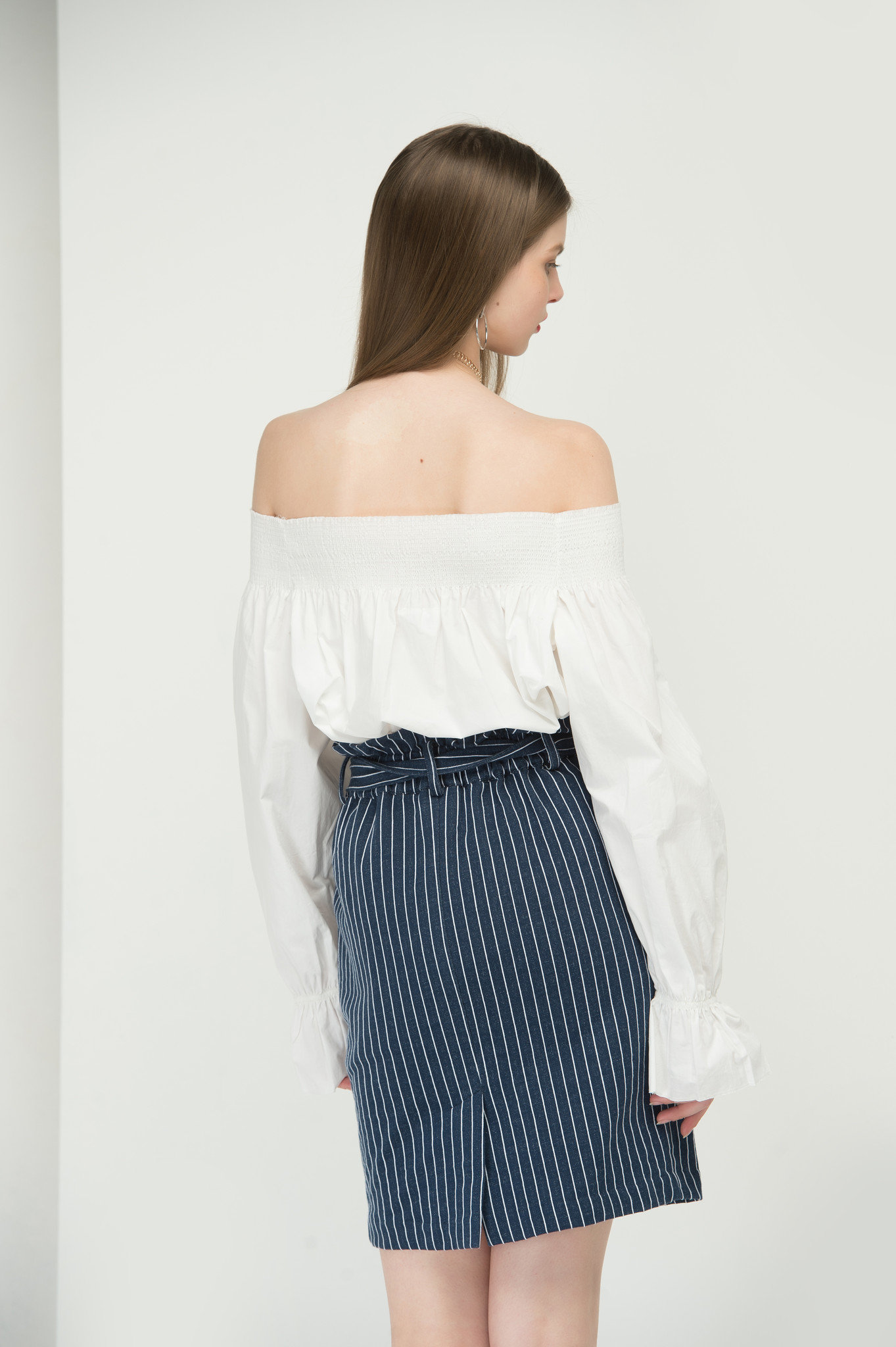 Off the shoulder white top3