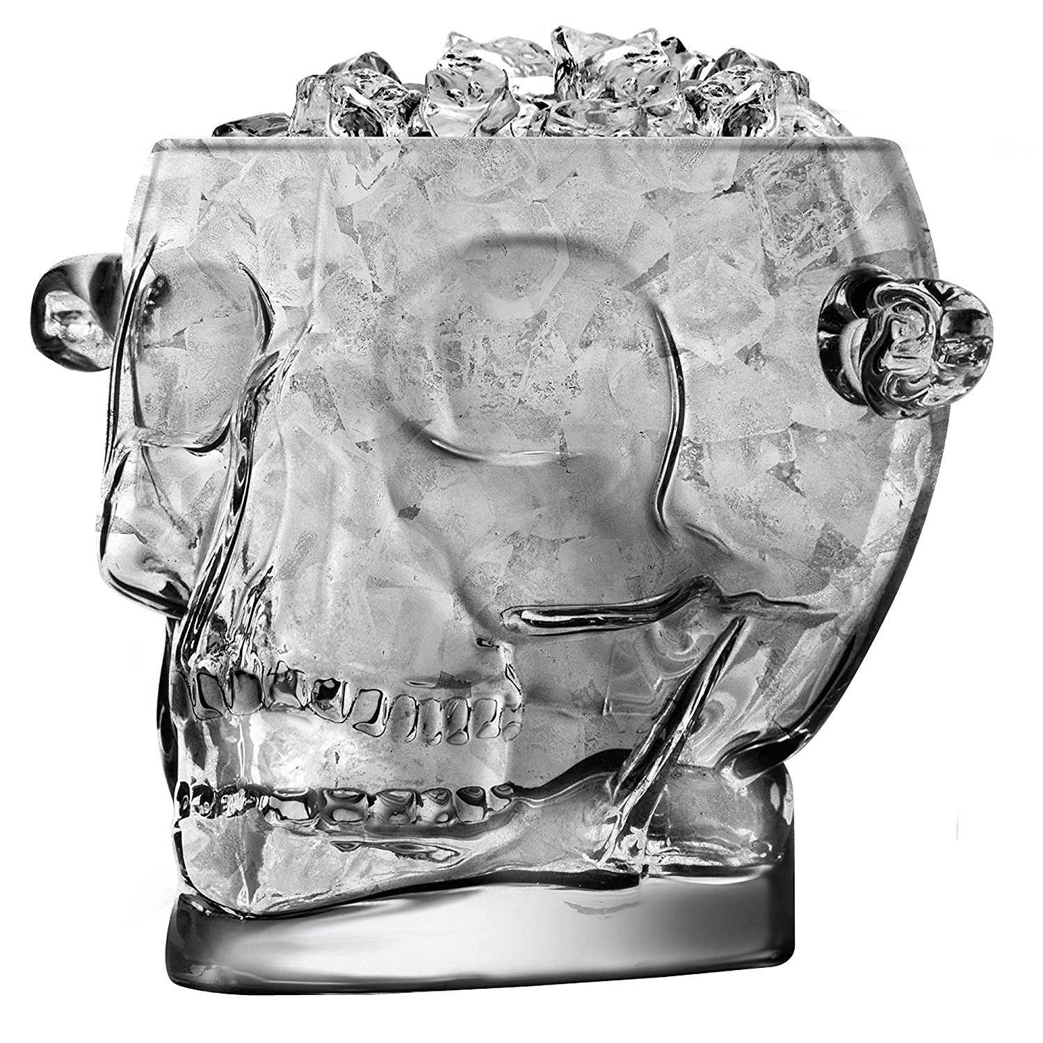 Final touch glass brain freeze skull ice bucket2