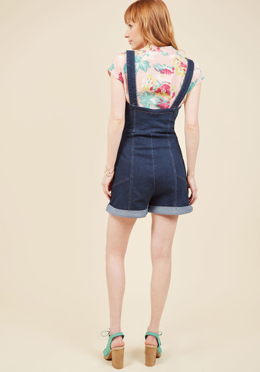I ve got your throwback denim romper 2