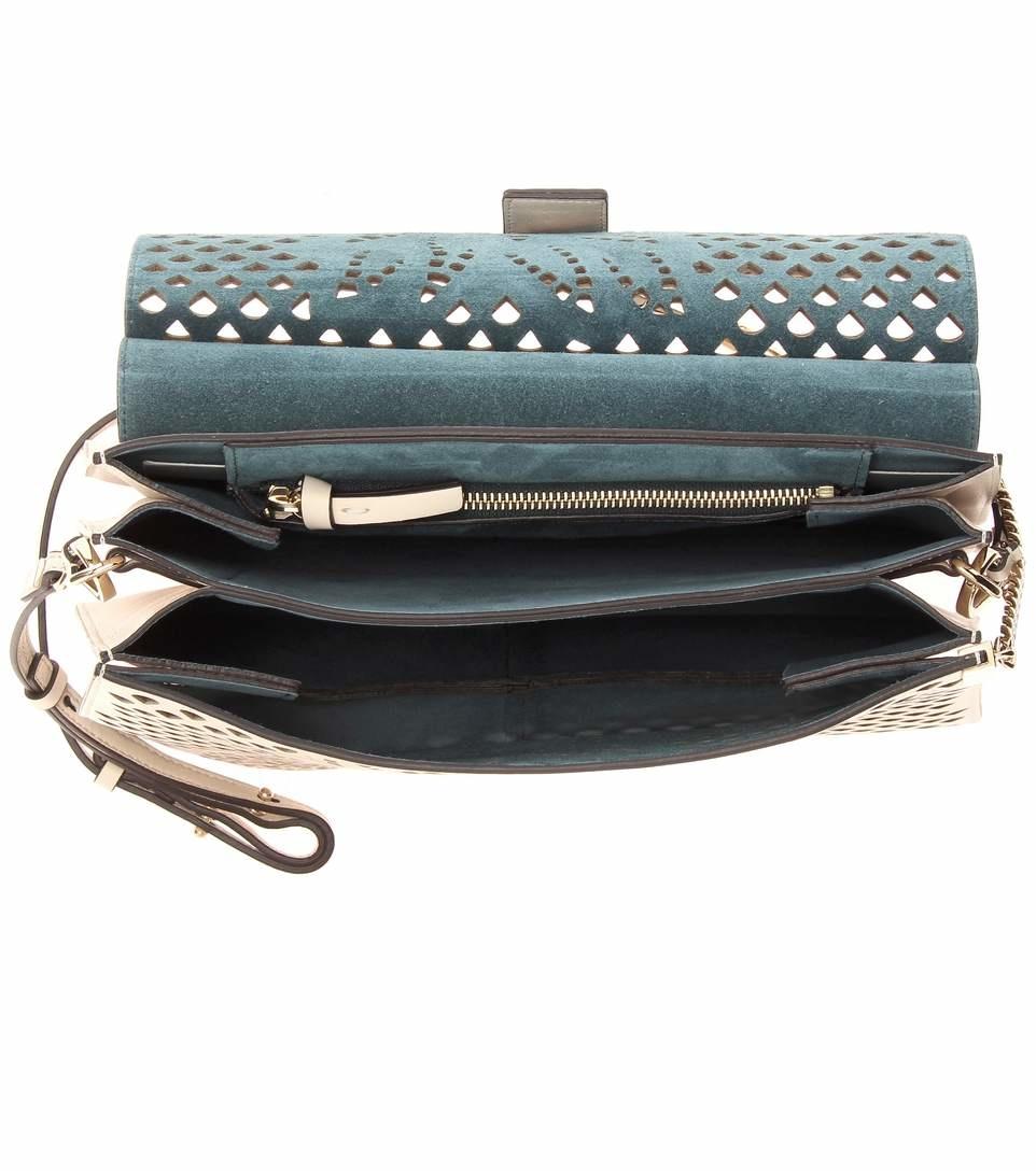 Faye medium leather shoulder bag 2