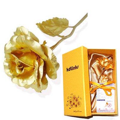 6 inch gold foil rose2