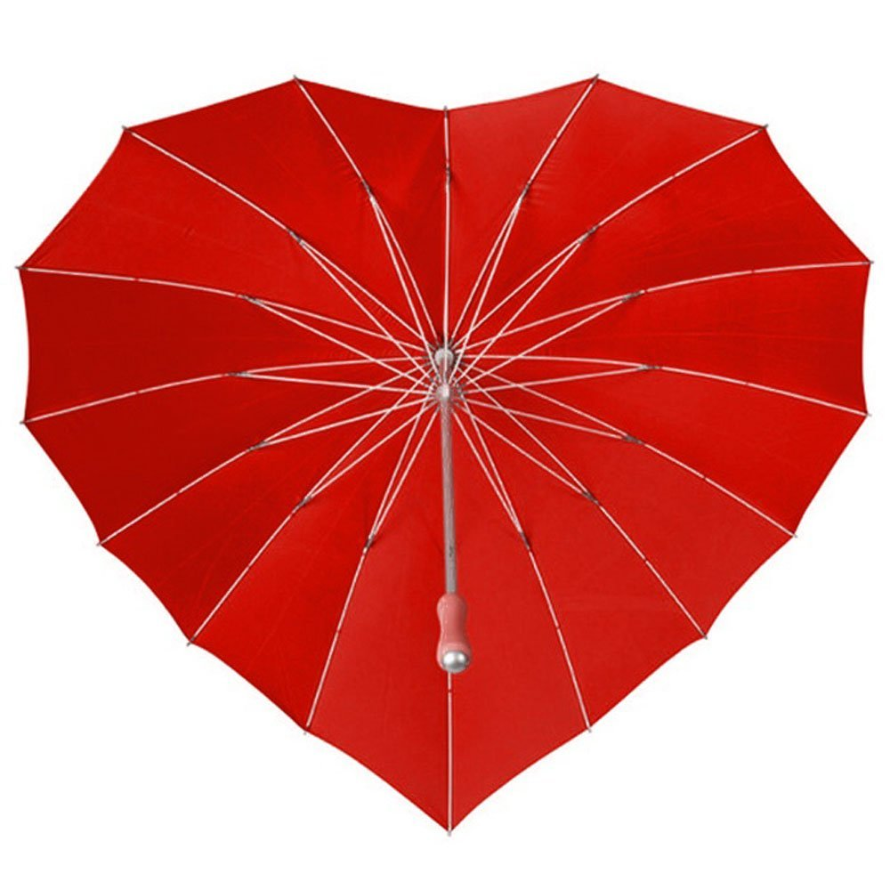 Love heart umbrella   red 1