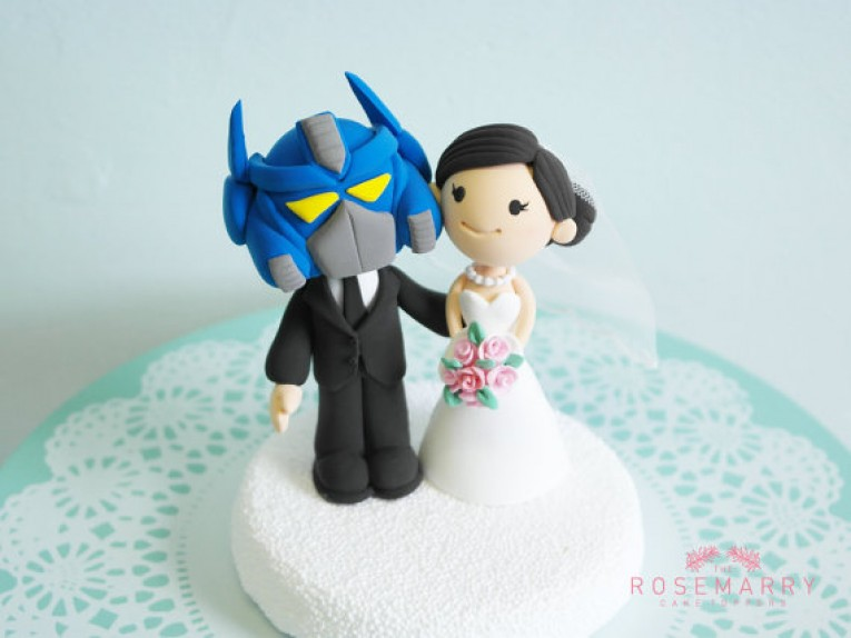 Customized wedding cake topper  3