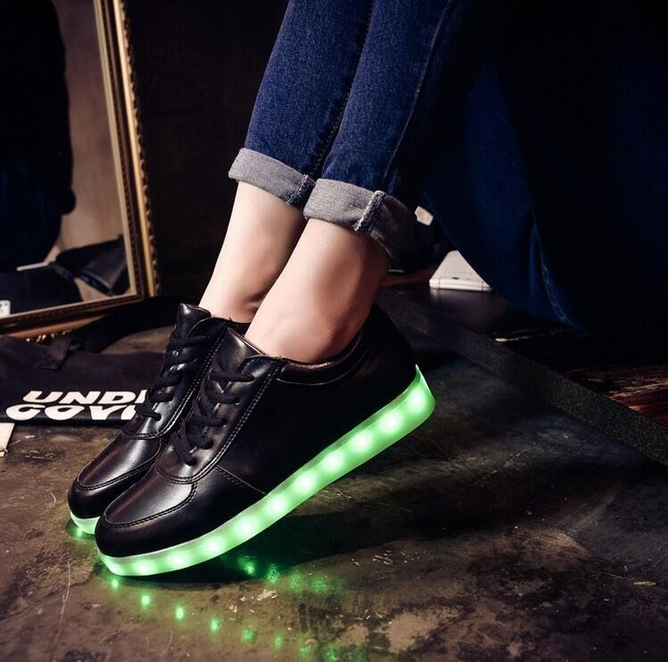 Usb rechargeable led shoes1