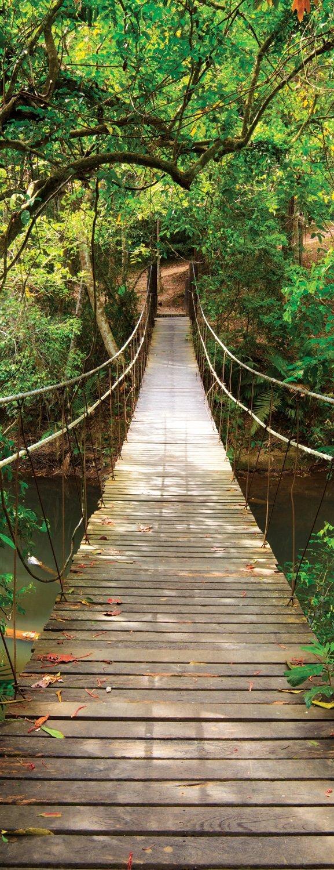Giant door sticker rope bridge tropic forest 3