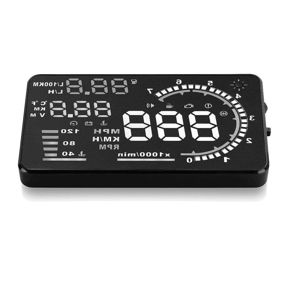 Arestech 5.5 inches a8 multi color hud head up display with obd24