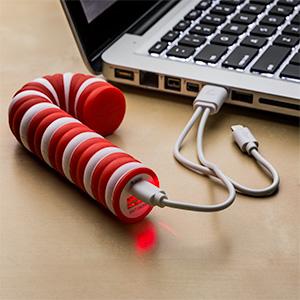 Iotj candy cane power bank inuse