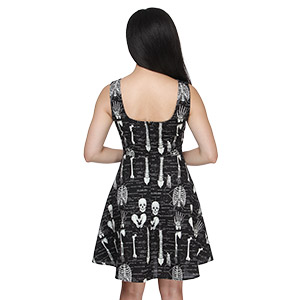 Innt glow in dark skeleton dress back